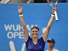 VELKÁ RADOST. Petra Kvitová vyhrála turnaj v čínském Wu-chanu.