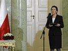 Nová polská premiérka Ewa Kopaczová (22. září 2014).