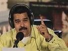 Venezuelský prezident Nicolás Maduro hovoří v rádiu (16. září 2014).