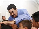 Venezuelský prezident Nicolás Maduro ve škole  (17. září 2014).