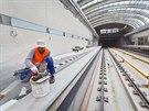 Stanice Motol rozestav�n�ho �seku linky A metra.