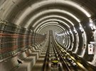 Nov� ��st linky A pra�sk�ho metra je kr�tce p�ed dokon�en�m, kompletn� hotova...