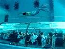 Bazén Y40 Deep Joy v italském Montegrotto Terme má hloubku 40 metrů. Jeho...