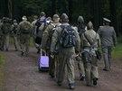 Hosté v uniformách někdejší východoněmecké armády NVA (Nationale Volksarmee)...