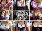 CHLOUBA V KROJI. Náv�t�vnice Oktoberfestu se na 181. ro�ník svátku dobrého piva...