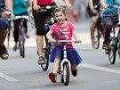 Brnem projely stovky lidí na kolech při cyklojízdě Nakoleon.