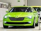 �koda Vision C byla k vid�ní b�hem oslav 80. výro�í automobilky �koda Auto v...