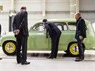 Historické modely aut obdivovali náv�t�vníci b�hem oslav 80. výro�í automobilky...