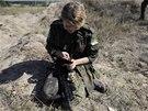 Ukrajinská armáda na vojenském cvičení (21. září 2014)