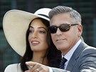 Manželé George Clooney a Amal Alamuddinová