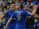 JE TAM. David Nugent slaví proměněnou penaltu Leicesteru.