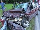 Tragická nehoda v Žabokrkách u Hronova na Náchodsku.