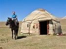 Na konci srpna v kyrgyzských horách, kousek od jezera Song Kul