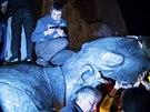 Charkovsk� ��ady povolily zni�en� bronzov� sochy Lenina.