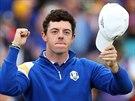 Rory McIlroy právě zařídil Evropanům další bod v Ryder Cupu.