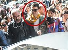 Vitalij Seďuk si na Kim Kardashianovou počkal mezi novináři (Paříž, 25. září...
