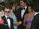 Matt Damon a jeho man�elka na svatb� George Clooneyho
