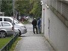 Policie zasahuje v domě Ivo Rittiga na pražských Vinohradech. (26. 9. 2014)
