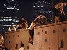 V centru Hongkongu protestovaly desítky tisíc lidí za demokracii (28. 9. 2014)
