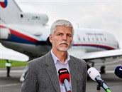 Ná�elník �eského generálního �tábu Petr Pavel po návratu z Vilniusu, kde byl...