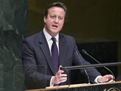 Britský premiér David Cameron b�hem projevu p�ed Valným shromá�d�ním OSN (24....