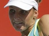 SOUST�ED�NÍ. Karolína Plí�ková v semifinále turnaje v Soulu.
