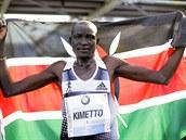 Ke�ský vytrvalec Denis Kimetto zab�hl v Berlín� nejrychlej�í maratonský výkon...
