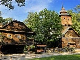 Dřevěné městečko je jednou z expozic Skanzenu Rožnov pod Radhoštěm