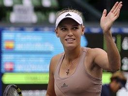 Caroline Wozniacká na turnaji v Tokiu.