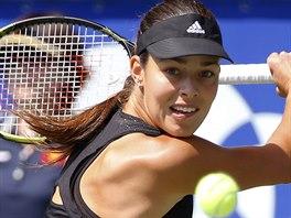 Srbská tenistka Ana Ivanovičová ve finále turnaje v Tokiu.