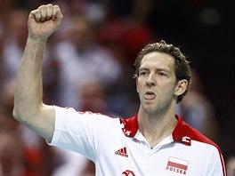 Francouzský trenér Stéphane Antiga má ve finále mistrovství světa radost z...