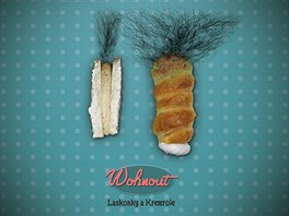 Obal desky Laskonky a kremrole od kapely Wohnout.
