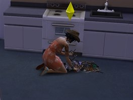 Hrabání v odpadcích, oblíbená simí kratochvíle.