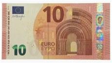 Nová desetieurová bankovka