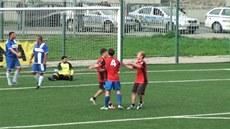 Romové hráli fotbal