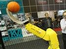 Robot basketbalista. Unikátní sportující stroj uvidí návštěvníci v pavilonu P.
