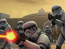 Záběr ze seriálu Star Wars Povstalci