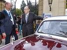 N�kdej�� n�meck� ministr zahrani�� Hans-Dietrich Genscher po 25 letech zav�tal...