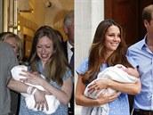 Marc Mezvinsky, Chelsea Clintonová a jejich dcera Charlotte a vévodkyn� Kate,...