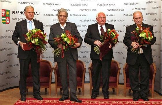 Zleva: Vladimír Haber, Pavel Pavlovský, Josef Průša, František Radkovský