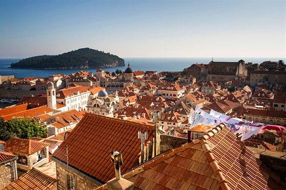 Střechy chorvatského historického města Dubrovník