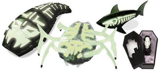 Strašidelné vychytávky – ZOMBIE Larva, Scarab, Aquabot a nano brouk (zdroj:...
