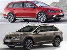 Volkswagen Golf Alltrack a Seat Leon X-PERIENCE