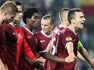 OSLAVA VÍTĚZSTVÍ. Fotbalová Sparta porazila v Evropské lize švýcarský tým Young...