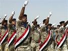 Přehlídka irácké armády v Bagdádu (1. října 2014).