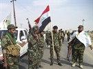 Irácké šiítské milice, které bojojí proti islamistům (2. října 2014).