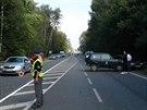 P�i dopravn� nehod� u obce P�tihosty byli zran�ni t�i lid�. Na m�st� zasahoval...