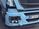 Kamion na D5 u Prahy srazil silni���e, ten zran�n�m na m�st� podlehl (6.10.2014)