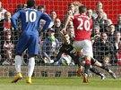 MÁM TO! David De Gea, brankář fotbalistů Manchesteru United, chytil penaltu,...
