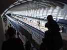 V rámci dne otevřených dveří si mohli zájemci v sobotu prohlédnout novou část trasy metra linky A. Na snímku nová stanice Nemocnice Motol (4. října)